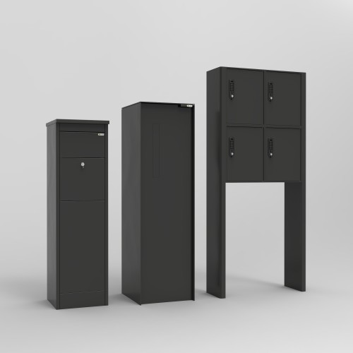 brievenbus in alu met voorraadkast achteraan. Black Bedroom Furniture Sets. Home Design Ideas