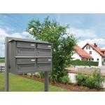 2delige aluminium brievenbus losstaand met beugel