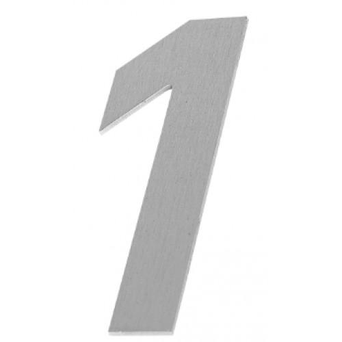Huisnummer Alu In Inoxlook 100mm H X 15mm Dik Om Te Kleven