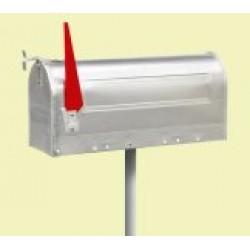 Brievenbus Amerikaans   Aluminium rode vlag