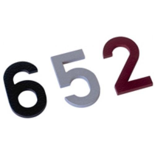 Huisnummer Alu In Inoxlook 50mm H X 15mm Dik Om Te Kleven