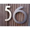 huisnummer inox model  irab op staafjes 100mm