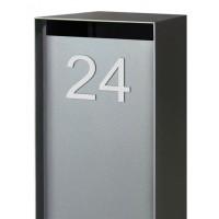 Boral Brievenbus-Pakket | Aluminium Strak Losstaand